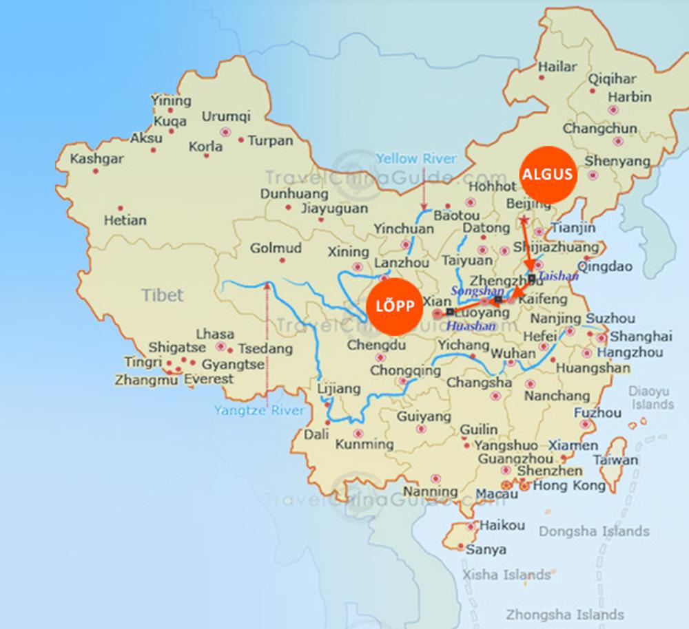 Hiina on väga suur.